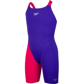 speedo Fastskin Endurance+ Openback Kneeskin Mädchen purple/red